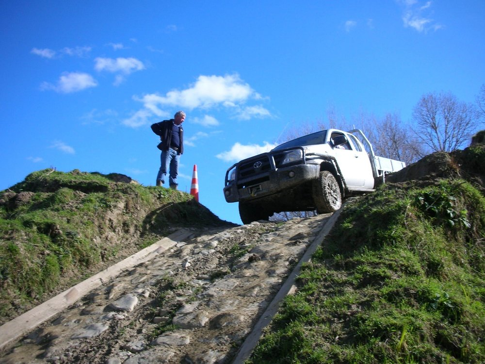 4WD training- the slippery rock hill