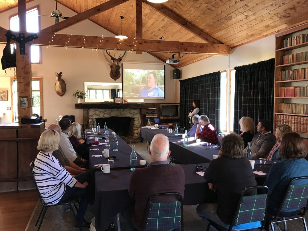 Horses Helping Humans™ workshops are presented into companies internationally and exclusivly in NZ at Makoura Lodge.
