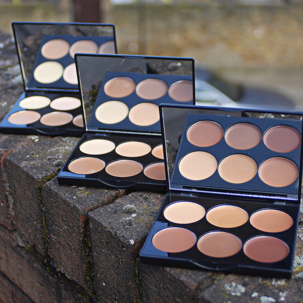 Sleek Cream Contour Palettes: Light - Medium - Dark [l-r]
