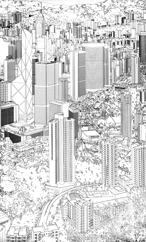 Drawing for Hong Kong Panorama