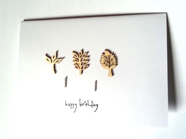 Leaf Happy Birthday - Beaded Studs