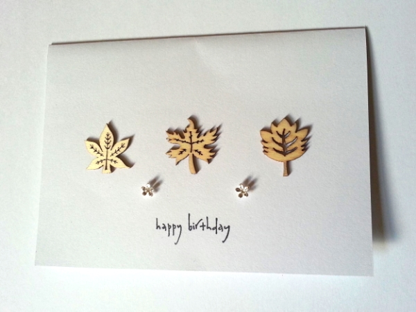 Leafy Happy Birthday - Flower Studs
