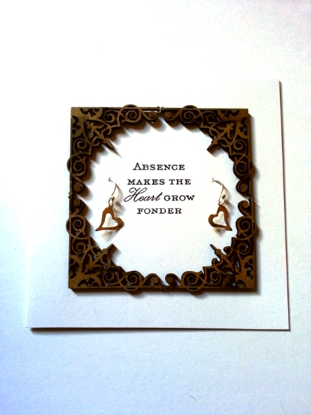 Absence Makes - Heart Earrings