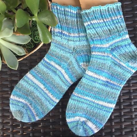 Toe Up DK Boot Sock by Paula