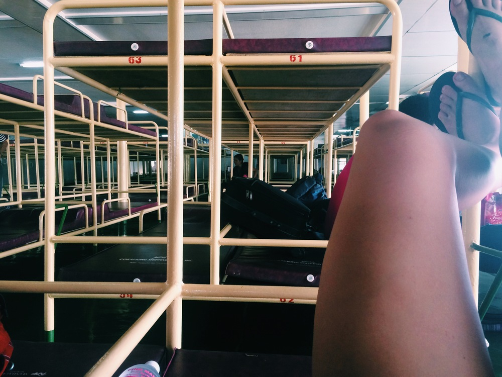bunks on the boat to Dumaguete