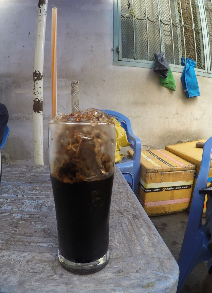 iced coffee! ca phe sua da