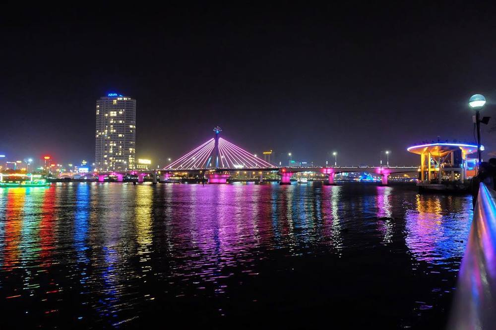 The Da Nang skyline is perfect.