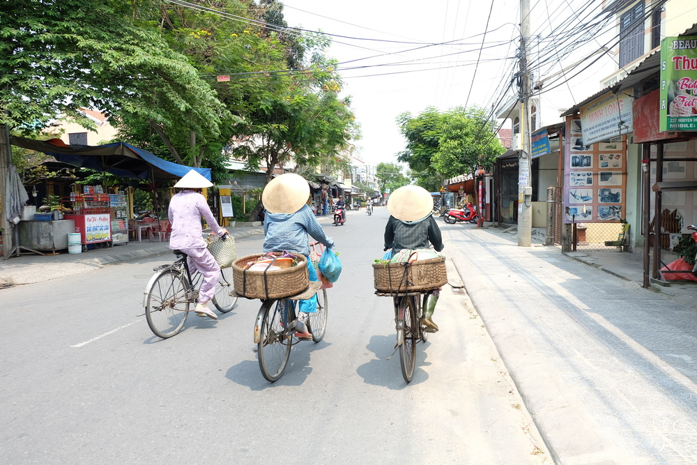 Hats worn in a non-ironic way in Hoi An.