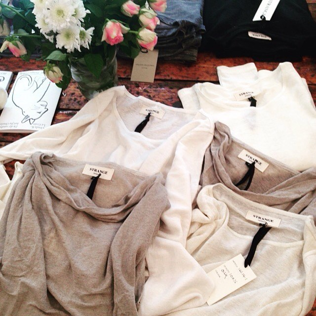 Plenty of new summer items in store 🌸🌻 100% linen and silk #strangecollection #vesterbro #summerfashion #knitwear