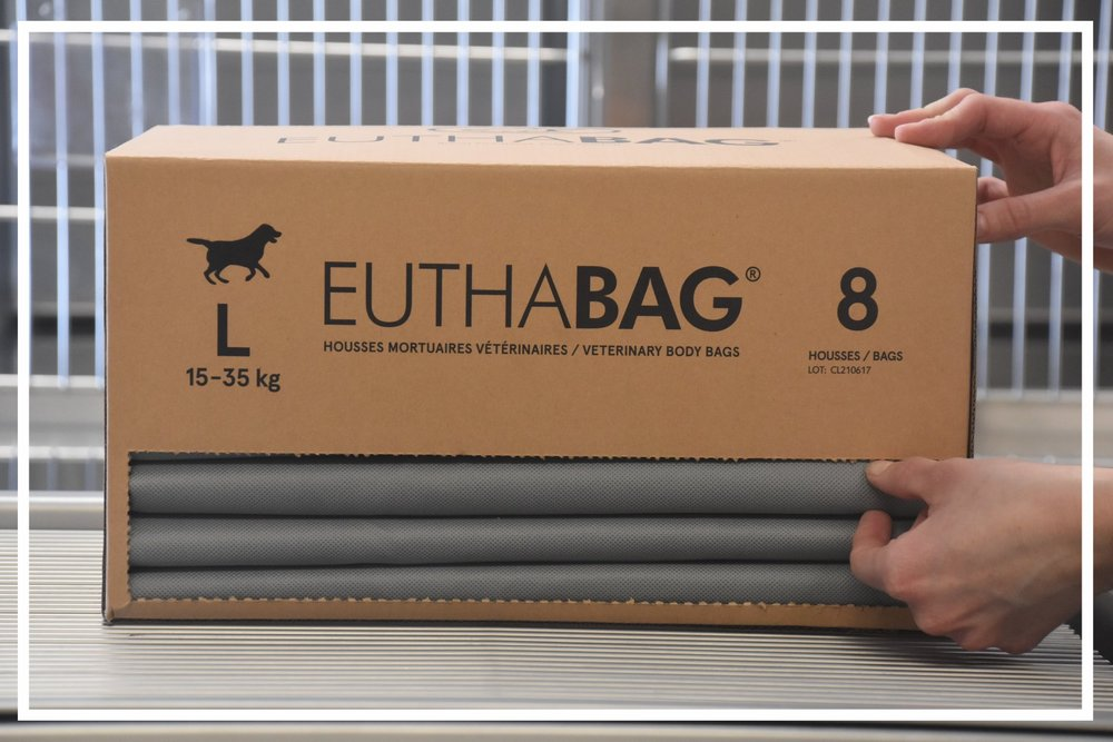 euthabag euthabag.ca euthabag.com euthabag canada pet body bags pet burial bags pet cremation bags animal vet supplies animal care supplies pet cadaver bags vet cremation dog burial bag cadaver bags vet bags cremation bags pet body bags cadaver transport cadaver bag cadaver pouch vet supplies vet supply canadian vet supplies vet supply online vets supplies online veterinary supplies veterinary supply veterinary supplies for dogs veterinary medical supplies  pet cadaver small animal cadaver pet euthanasia dog euthanasia cat euthanasia small animal euthanasia veterinary clinic euthanasia dead pet Mortuary veterinary material Pet Coffin Pet burial pouch Cat coffin  Dog coffin Small animal coffin Pet Dignity Dog dignity Cat dignity Cat Cremation Dog Cremation Animal cremation Small animal cremation Veterinary clinic cremation Veterinary material Expandable body bag Leak proof body bag Zip closure body bag Recycled material body bag Identifiable body bag Economical pet body bag Celine Leheurteux veterinarian Jocelyn Mason  angel bag forever bag