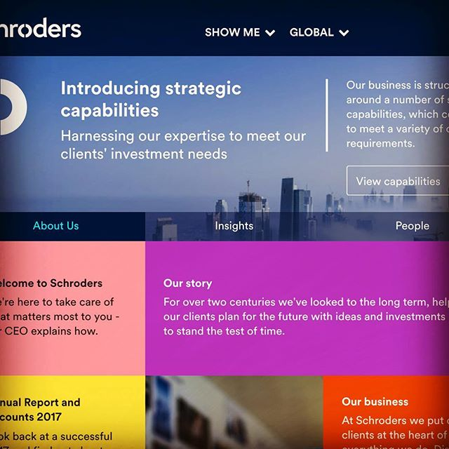 Words on the web for Schroders