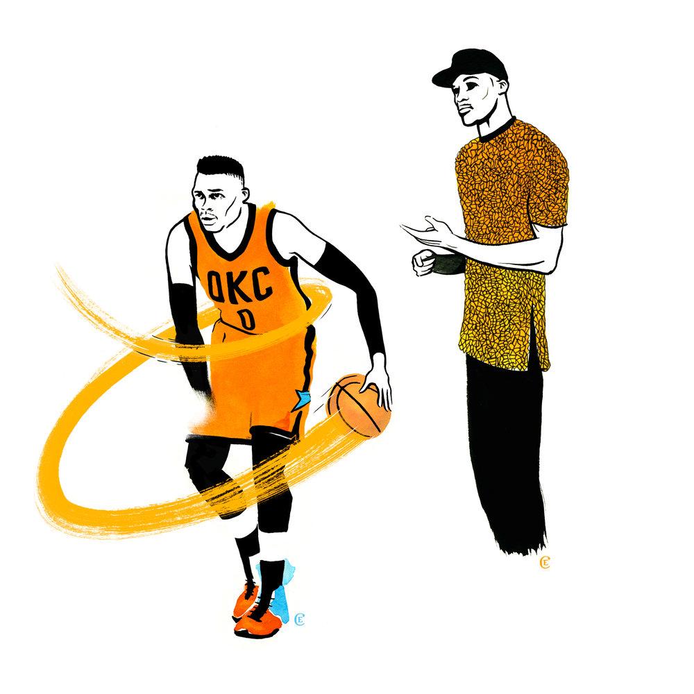Russell-Westbrook-chris-edser-playing-cap