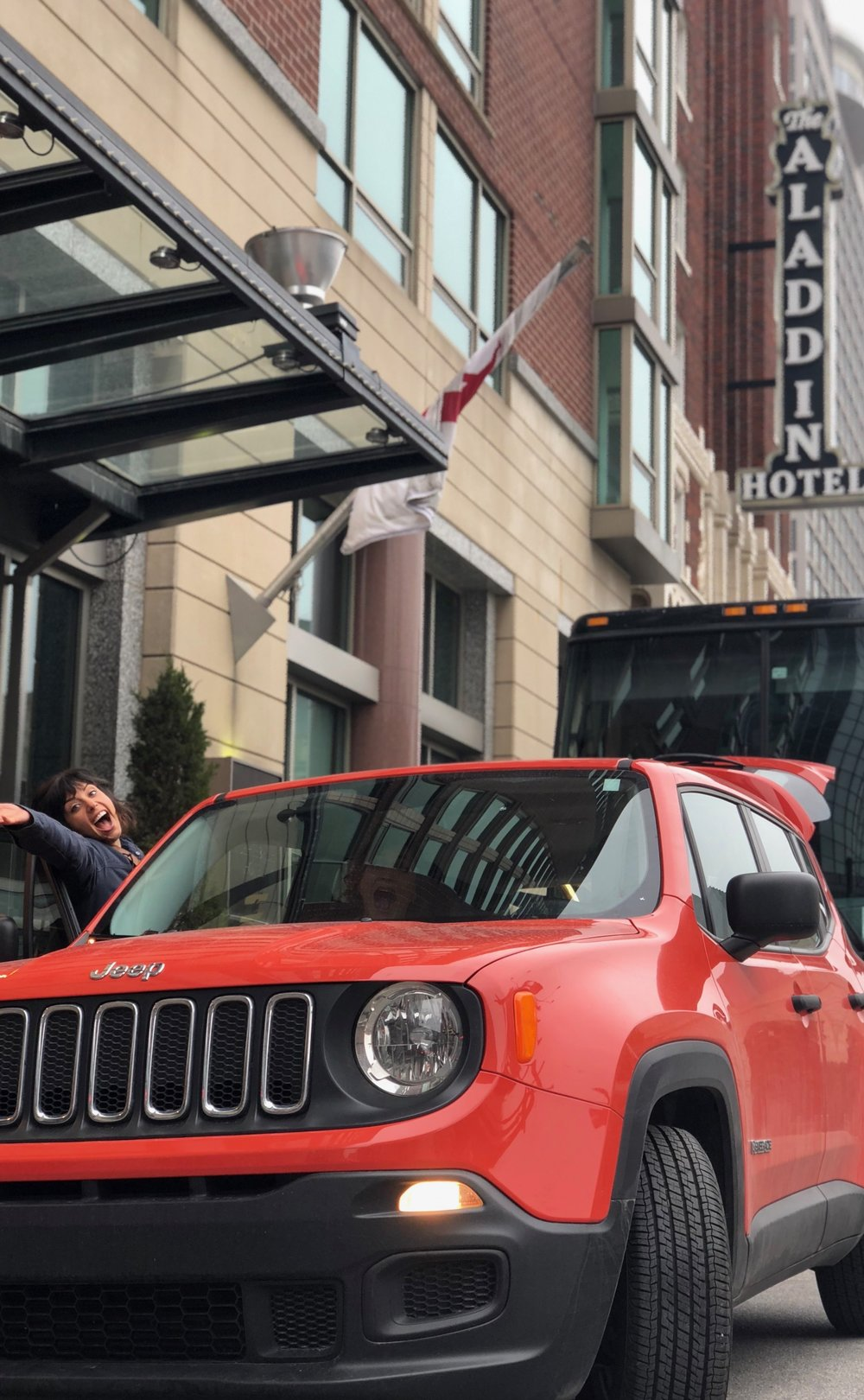 Allison and April were more than ready to go explore KCMO in our Rescue Renegade.
