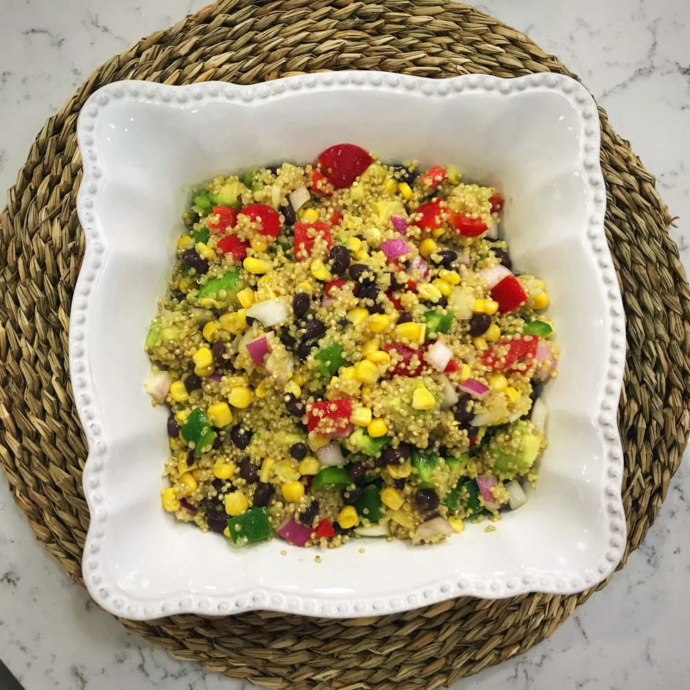 Mexican Quinoa Salad with Jalapeno Vinaigrette