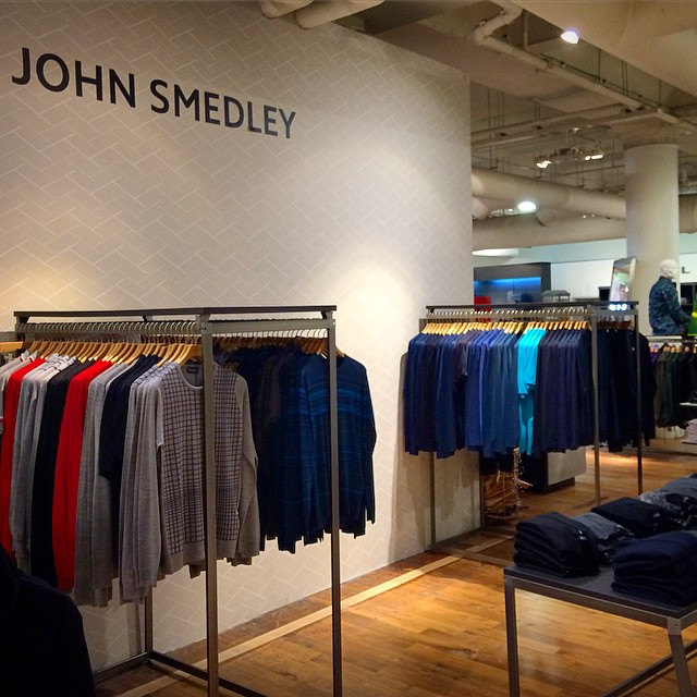 The temporary #JohnSmedley shop fit at #Selfridges is in and looking super smart. Roll on September when the long awaited Smedley vision will be realised (at Selfridges)