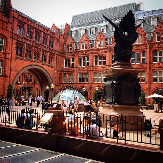 Summer in the courtyard at OBC Towers #WaterhouseSquare #OBCtowers