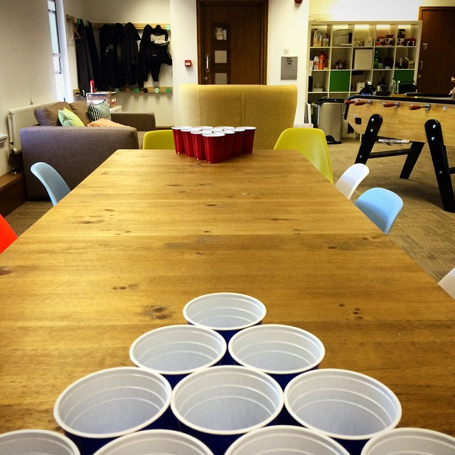 Getting in some practise for the OBC vs Wizard PR Beer Pong Championship #beerpong #TeamOBC