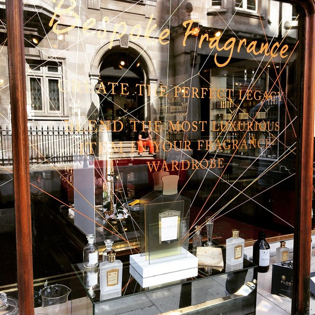 Bespoke window install at @florislondon - great work @smiddleton89 #Floris #FlorisLondon #RetailDesign #BespokeFragrance (at Floris London)