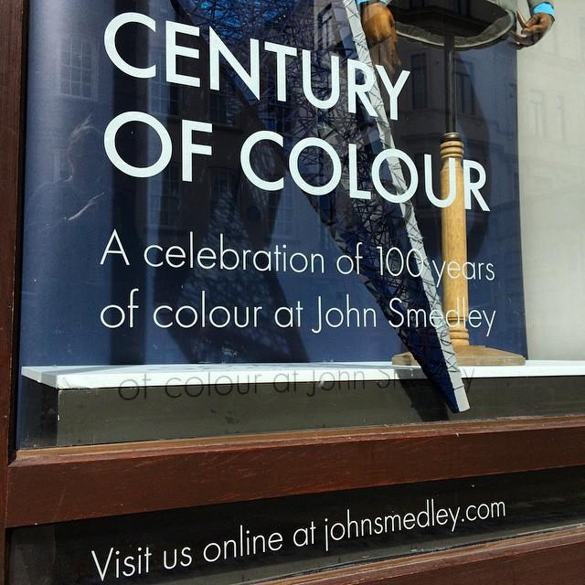 John Smedley window #JohnSmedley #CenturyOfColour