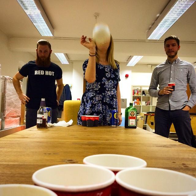 Office beer pong #BeerPong