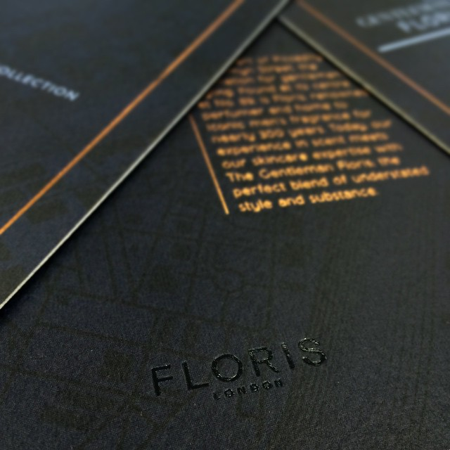 The @florislondon invites we've been working on are in #Floris #Invites #FoilBlock