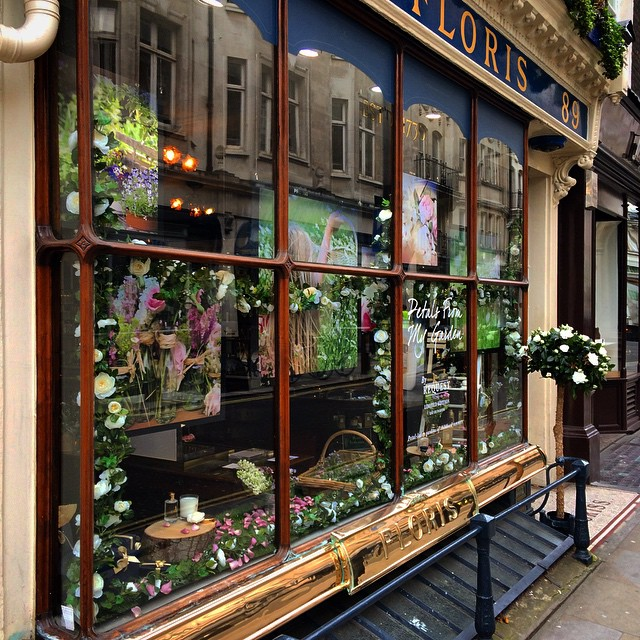 Check out the window we created with the team at @florislondon for their Petals From My Garden scent #Floris #PetalsFromMyGarden