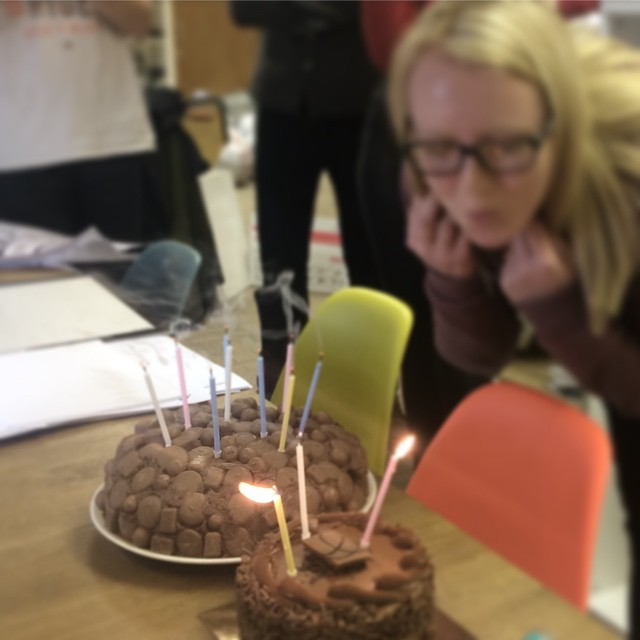 It's Soph's birthday and due to a minor miscommunication we have double cake - whoop! #chocolate #birthdaycake