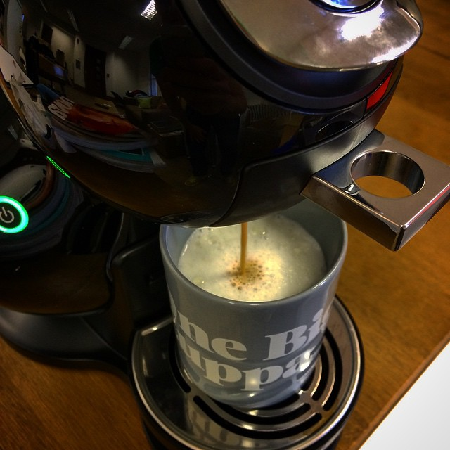 No kitchen? No problems - we got cwaffee! #coffee #OneBigCompany #DolceGusto (at One Big Company)