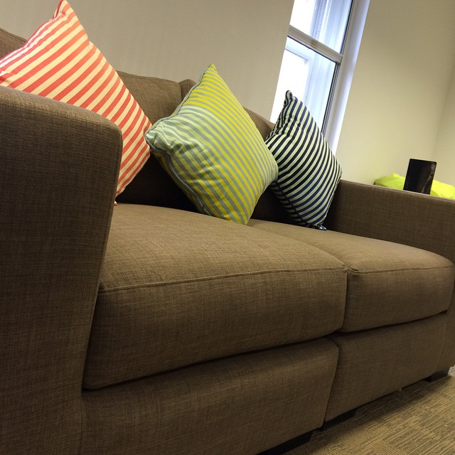 We have a sofa #newoffice
