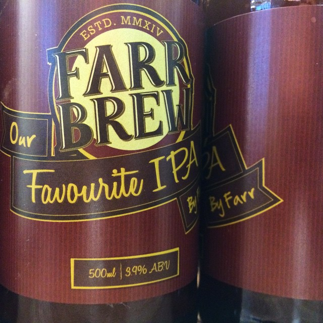 It's 'Our Favourite IPA, by Farr'