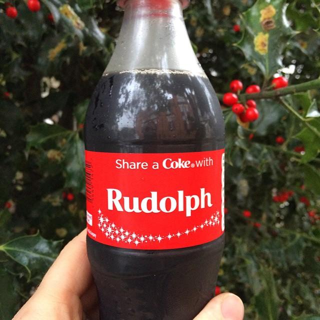 Christmas Coke #holidaysarecoming #rudolph
