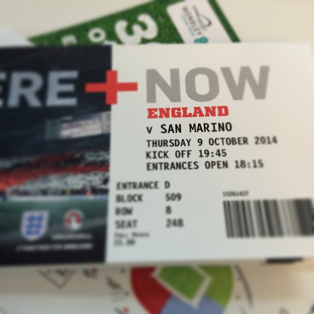 Tickets have arrived, let's hope for One Big Result #OneBigCompany #comeonengland