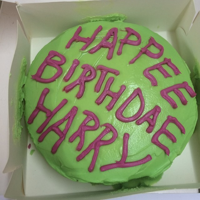 As Maggie is such a Harry Potter superfan she's decided we should celebrate his birthday and has made this kick-ass cake. We're not complaining! #harrypotter