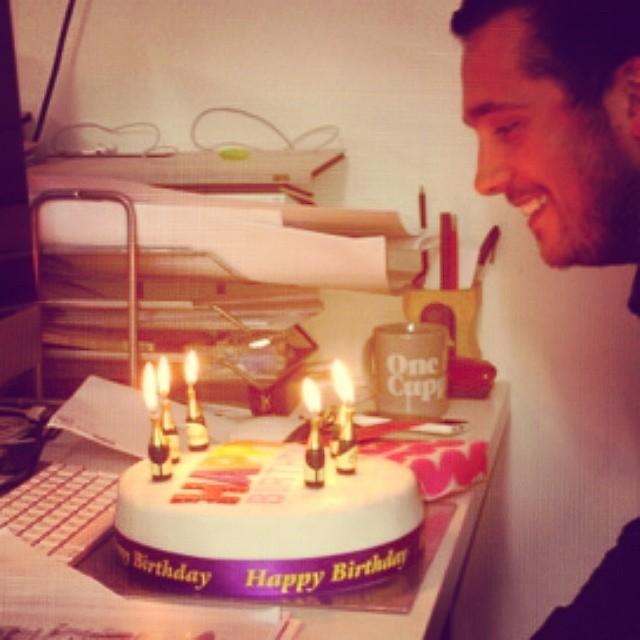 Belated birthday celebrations for Matt