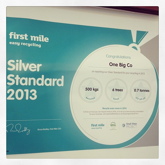 It's official, we're an award winning agency - thanks First Mile @LondonRecycling #awardwinners