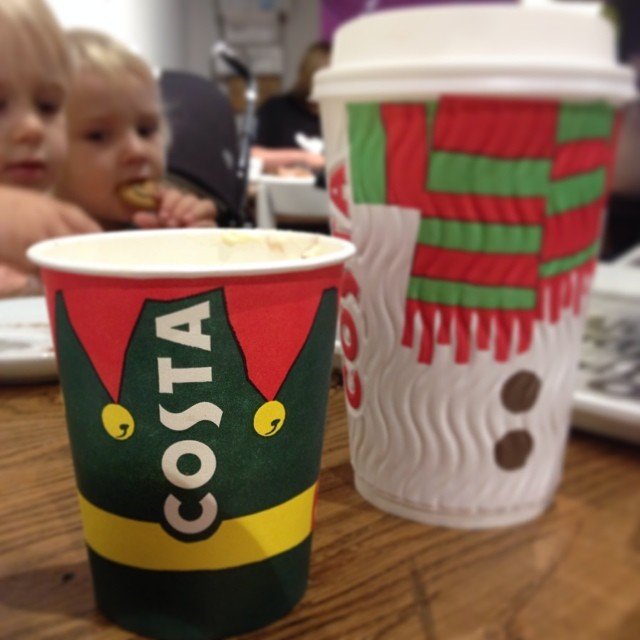 Costa's Christmas cups are fun, fun, fun