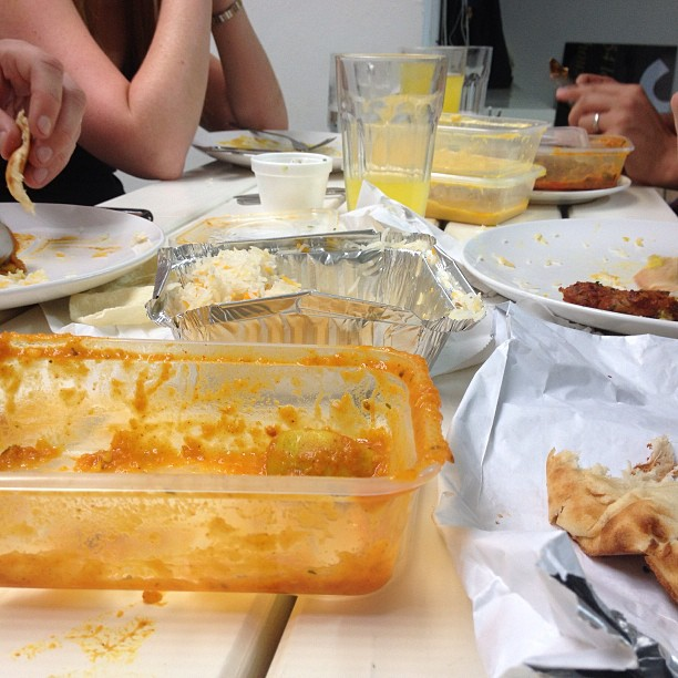 Fat Friday = curry day. Looks like we got greedy and forgot the before shot again though!