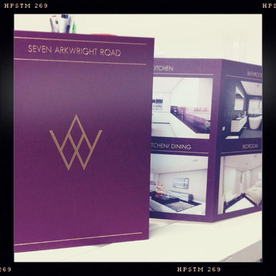 The Seven Arkwright Road mini-brochure, our latest piece of work for SAS Investments, has landed and is looking spiffing.   Well done to Sophie for designing it and  www.sevenarkwrightroad.com , the accompanying website.