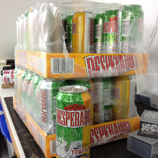 Thank you Beers of Europe 2 cases of Desperados delivered quicker than you can say '2 cases of Desperados'. Roll on 4pm…   …What the hell – why wait 'til 4?