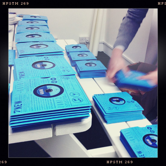 We've just finished putting together our latest BMOR Property job, 150 illustrated fold-out brochures based on a 45rpm record.   Check out a couple more photos on our Facebook page - facebook.com/OneBigCompany and watch this space for a full portfolio page coming soon.