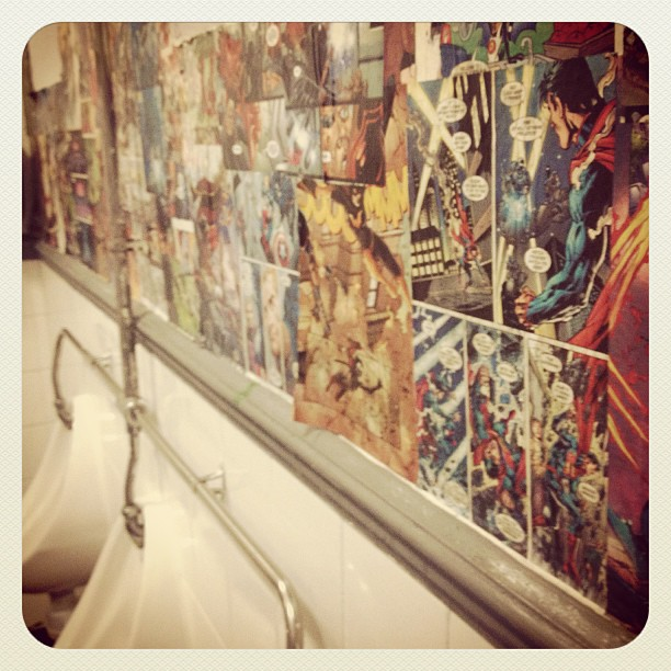 Bar 62 graphic novel toilets #stalbans #bar62