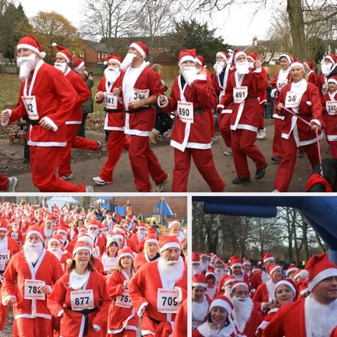 Dave represented One Big Company at Marlow's Santa Dash yesterday.   It was a veritable Where's Wally of people stupid enough to get up at 8am on a freezing cold Sunday morning, don an itchy beard and red outfit – see if you can spot him.