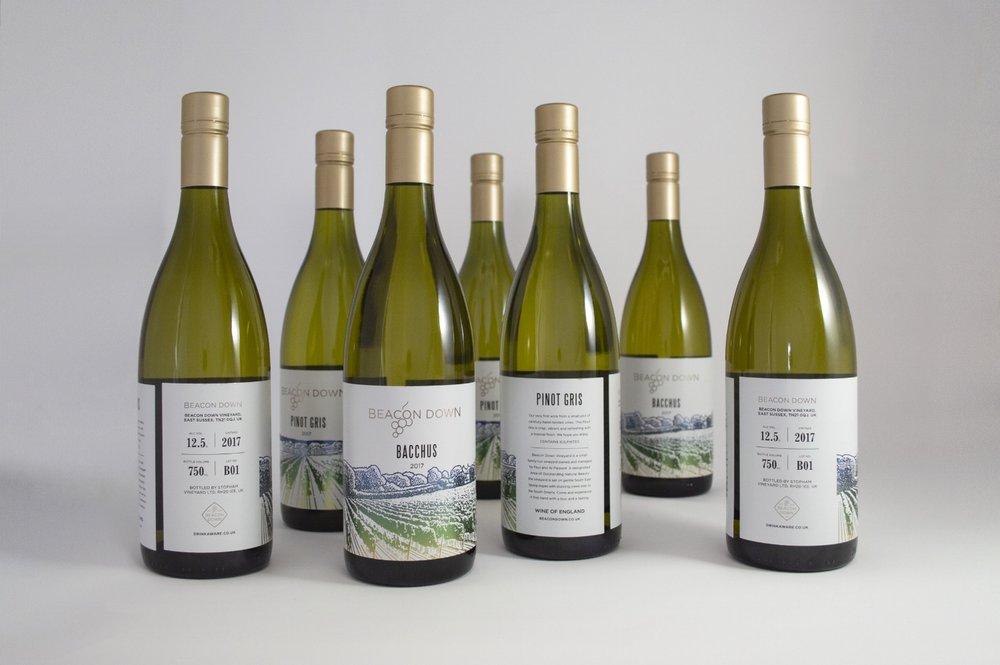 BeaconDownVineyard-BritishWine-PackagingDesign-Bottles-Group.jpg