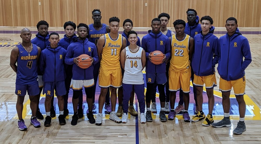 2018-19 Riordan Crusaders, it only looks like one person is happy to be there.