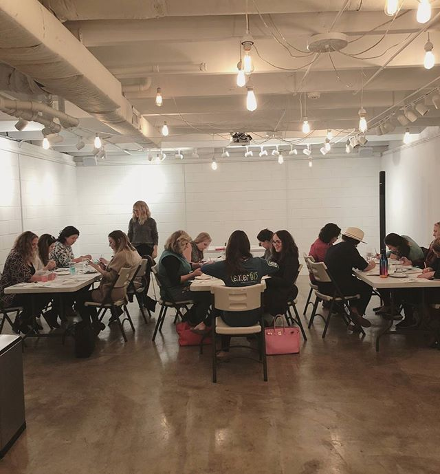 Another successful @skillpopnash watercolor class! Thanks @mainstgallerytn and @center615 for hosting us! I was SO PROUD of every wreath that was painted. It can be scary to try something a little uncomfortable and it brings me so much joy to have students join my class and leave with new skills! I'll be teaching one more wreath class before Christmas, details to come!