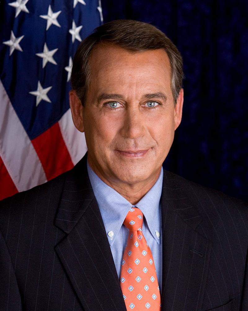 Representative John A. Boehner (R-OH) Elected 1990 B.S. Xavier University (1977)