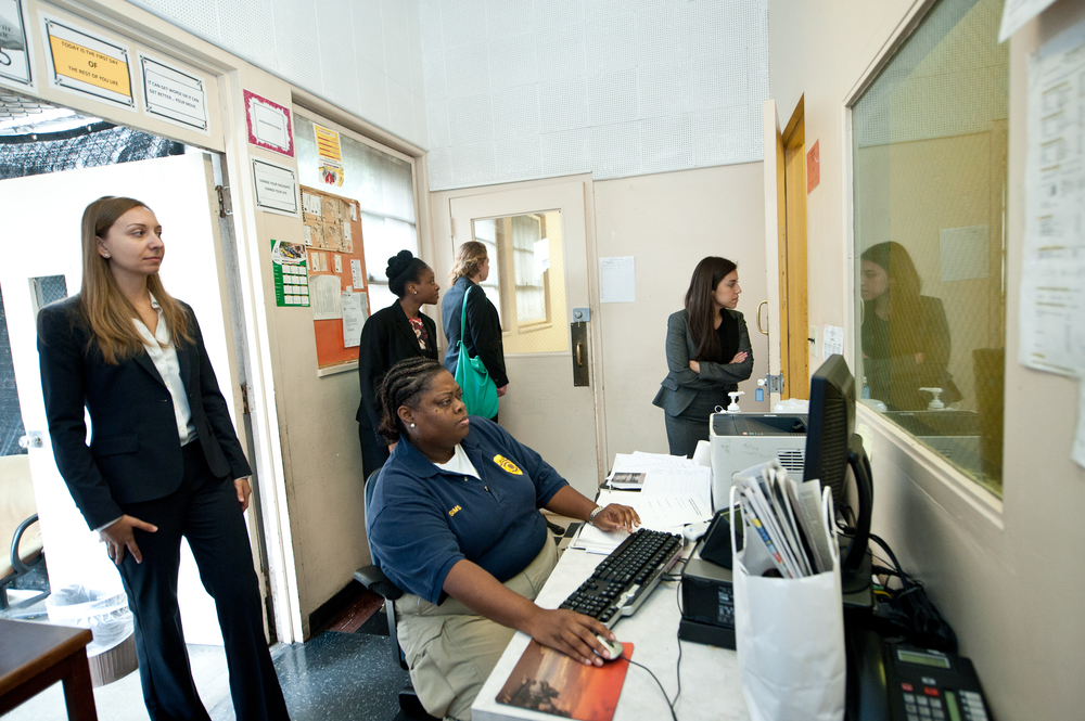 New CJLP students touring Camp David Gonzalez, Malibu in 2013 and observing the control room with probation staff. Photo by Loyola Marymount University.