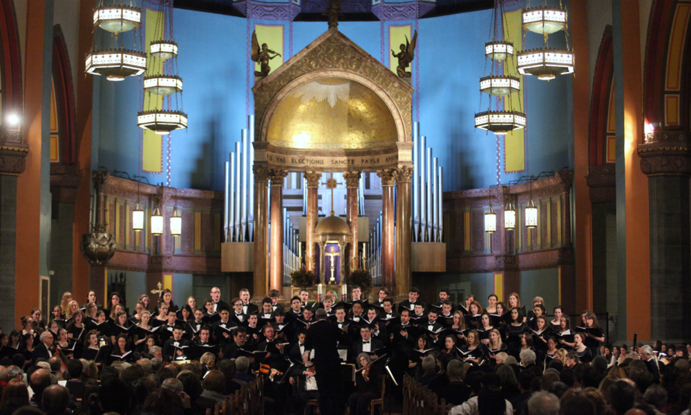 Fordham University Choir at Church of St. Paul Apostle (Photo by Dana Maxson for Fordham University)