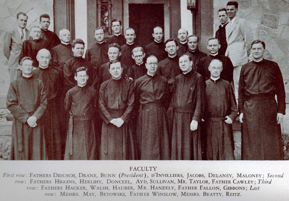 Loyola faculty in 1943 (photo by Jimmy Smith)