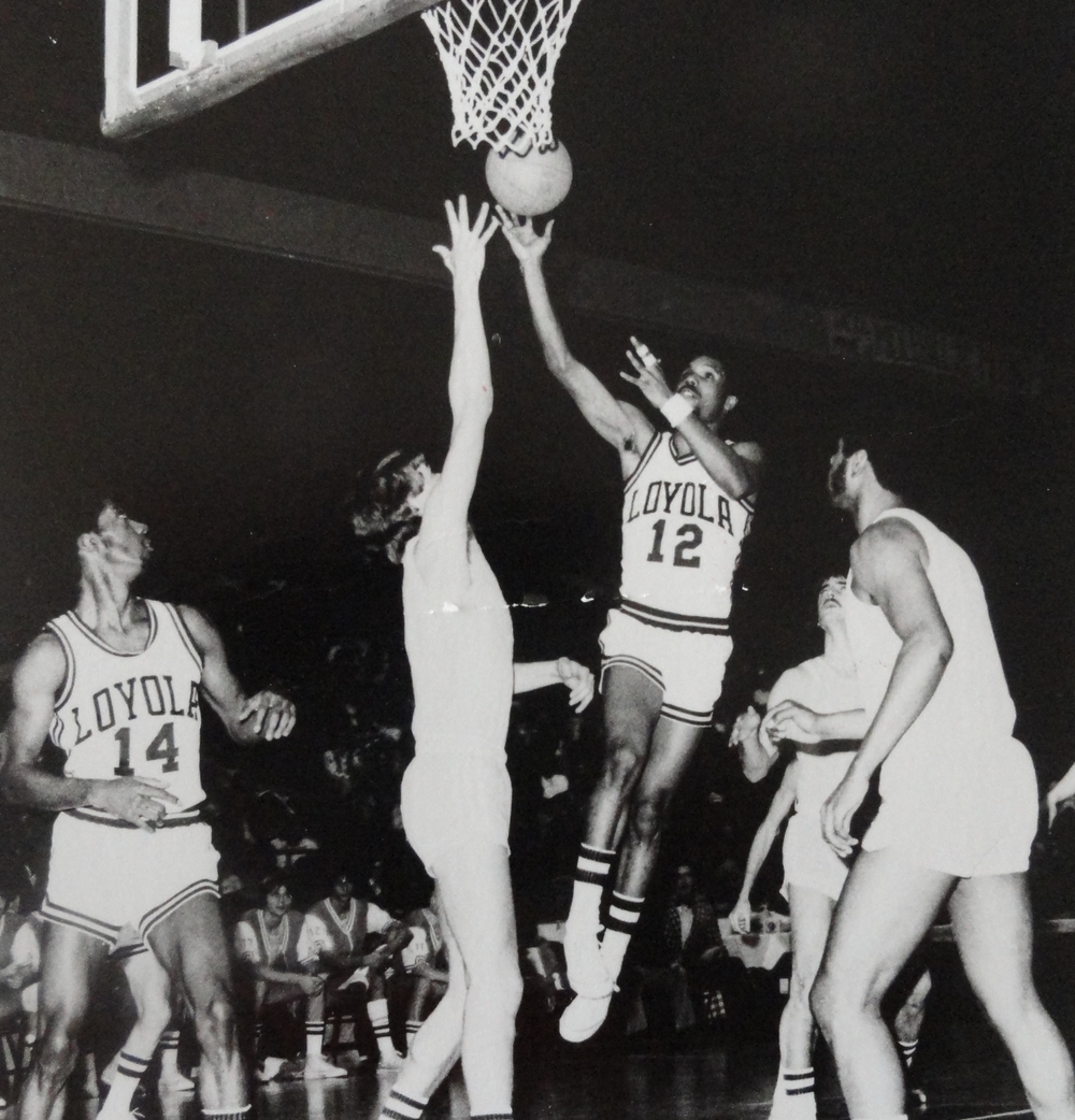 Rodney Floyd, Loyola's first recruited African-American men's basketball player (photo by Jimmy Smith)